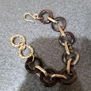 Noonday Collection linked horn bracelet